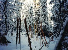 Een kampje in winters Lapland